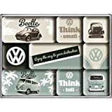 Nostalgic-Art 83054 Volkswagen - VW Bulli & Beetle - Think Tall & Small, Magnet-Set (9teilig)