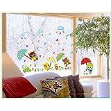 Jaamso Royals ' Children Room Cartoon Umrella Animal Wall Sticker For Home Decor' Wall Sticker (PVC Vinyl, 30 Cm X 60 Cm, Children's Room Décor Stickers)