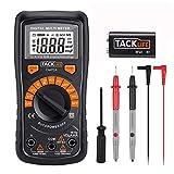 TACKLIFE Automatisch Digital Multimeter Tacklife DM02A, mit Berührungslose Spannungserkennung, LCD-Display, Spannungs-, Strom-, Widerstands- und Durchgangsprüfung, für Zuhause, Schule, Labor