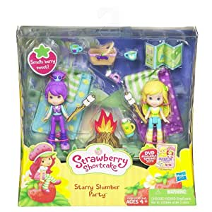 Strawberry Shortcake / Charlotte aux Fraises - Starry Slumber Party / Fraisi Rêves Étoilés - Plum Pudding / Prunetille & Lemon Meringue / Mimie Citron - Poupées (env. 8cm) - avec beaucoup d'accessoires