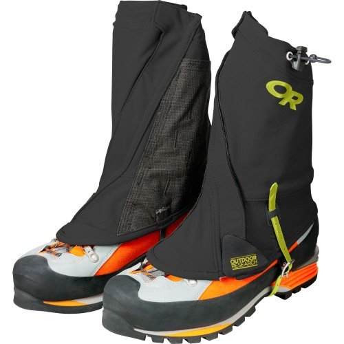 Outdoor Research Men's Endurance Gaiters, Black/Lemon Grass, Large/X-Large by Outdoor Research