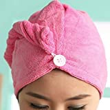 Clothsfab Absorbent Microfiber Cotton Towel Hair-Drying Quick Dry Shower Caps for Women Magic (Standard Size) - Pack of 2