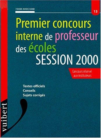 Le premier concours interne de professeur des écoles, session 2000, numéro 13