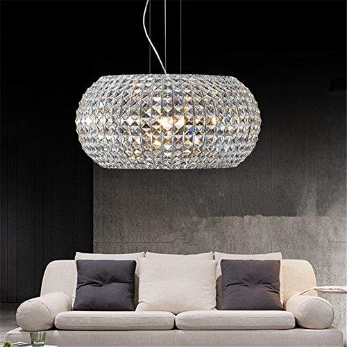 CUICAN Modern Kristall-kronleuchter Einfache Kreisförmige Deckenlampe Wohnzimmer Restaurants Art decor Pendelleuchte-A