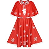 Sunny Fashion Robe Fille Rouge Cap Manteau Noël An Vacances Partie 10 ans