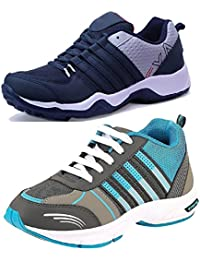 Maddy Combo Pack of 2 Sport Shoes for Men in Various Sizes