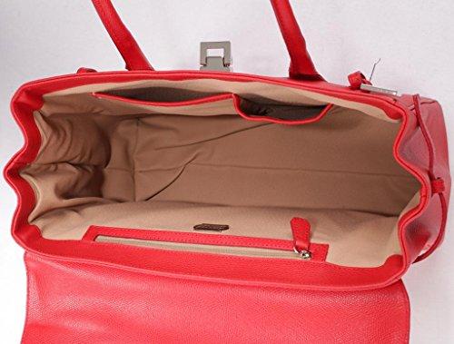 Custodia in pelle MONACO di JOSYBAG Rosso (rosso)