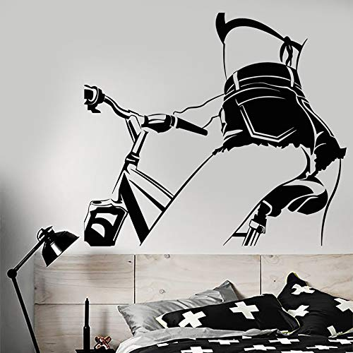 Vinyl Wall DecalNude Girl On Bike Beautiful Body Stickers Removable Art Mural For Bedroom Living Room Decoration74x83cm
