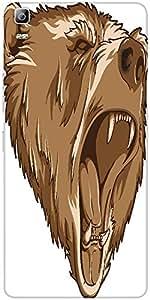 Snoogg Vector Grizzly Bear Designer Protective Back Case Cover For Lenovo A7000