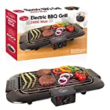 Quest 35910 Electric Smokeless Portable BBQ Indoor Barbecue Grill Water Filled Drip Tray Reduced Odour Smoke, 2000 W
