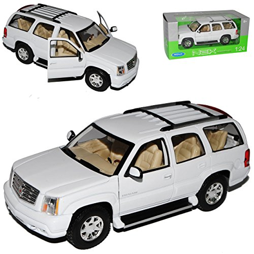 Cadillac Escalade Weiss Suv GMT800 2. Generation 2001-2006 1/24 Welly Modell Auto (2001 Cadillac Ca)
