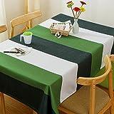 BUUYI Manteles Mesas de comedor Decoración Verde y Blanca 120x120cm Boda hotel restaurante Moderno sencillo