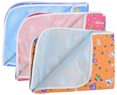Dreambaby Waterproof Nappy Changing Mat Bedding - Set Of 3(Multi-Color, 0-6)