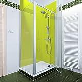 Chartreuse Farbige Acryl Dusche Panel. Einzigartige Hard Gloss Coated lang Life Finish. Einfach zu reinigen. 2050mm x alle Duschtasse breiten, acryl, Hellgrün, 1000mm X 2050mm