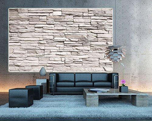 Muro di pietra bianca aspetto di pietra FOTOMURALE - quadro da parete -pietre decorazione da ...