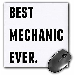 3drose Best Mechaniker Ever, Schwarz Buchstaben auf weißem Hintergrund Maus Pad, 20,3x 20,3cm (MP _ 213381_ 1)
