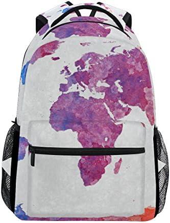 TIZORAX Aquarelle Carte Carte Carte du Monde coloré Sac à Dos Sac d'école pour ran ée Voyage Sac à Dos B07D3RZTBD | Livraison Immédiate  f4fdd8