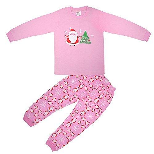 Vingi Little Girls Christmas Pajamas Set Children Santa Claus PJs 100%  cotton (Size 3T 202065882