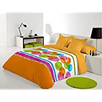 Reig Martí Compy - Juego de funda nórdica estampada, 3 piezas, para cama de 105 cm, color naranja