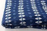 10Yard Indigo Blau Stoff Hand Block Print Stoff Jaipur