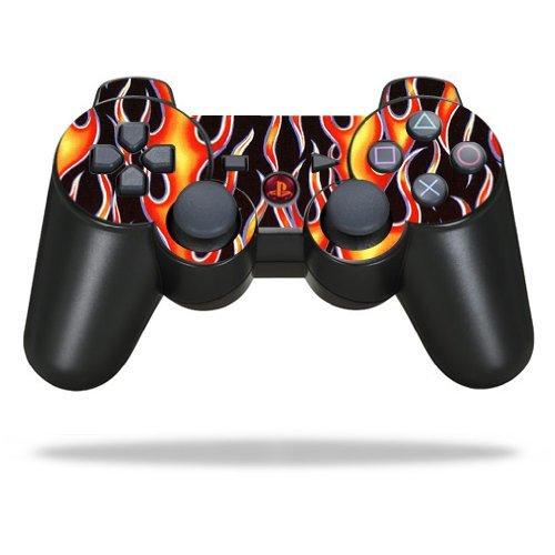 MightySkins Schutzfolie für Sony Sticker, 100 erhältlich Hot Flames Sony Playstation 3 PS3 Controller (Ps3 Skin-lila Controller)
