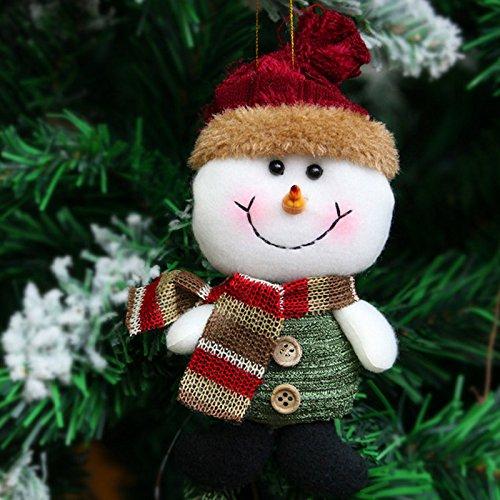 Rokoo Ornamento del árbol de navidad del muñeco de nieve