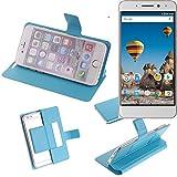 Flipcover Schutz Hülle für General Mobile GM 5 Plus, blau