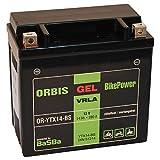 Orbis Gel12-14-BS Motorradbatterie - YTX14-BS 12 Volt 14 Ah 280 A