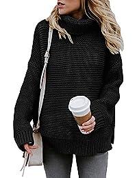 Yidarton Pullover Damen Rollkragenpullover Strickpullover Lässiges Stricken Pulli Winter Sweatshirt Oberteile Elegant