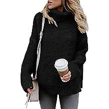 Yidarton Pullover Damen Rollkragenpullover Strickpullover Lässiges Stricken  Pulli Winter Sweatshirt Oberteile Elegant 3d0f12a6d0