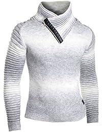 fb2f0e2ca0ef Herren Trichter Hals Pullover Wolle Dickes Zopfmuster Lange Ärmel Sweatshirt  Gestreift Gerippt
