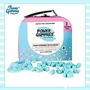 Power Gummies Hair & Nail Vitamins with Biotin & 10 Essential Vitamins - 120 -Pack of 2 (blue) -For Me
