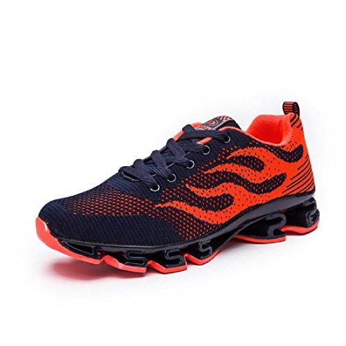 Mode Hommes Chaussures De Sport Augmente Chaussures Respirant Chaussures De Basket-ball Chaussures De Course Antidérapante Étanche Euro Taille 39-44 Orange