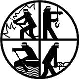 FEUERWEHR, retten, bergen, helfen, schützen 40cm-90cm aus 3mm STAHL (Durchmesser 60cm)