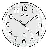 AMS f5960Orologio da parete radiocontrollato, in legno,, 34x 34x 7cm