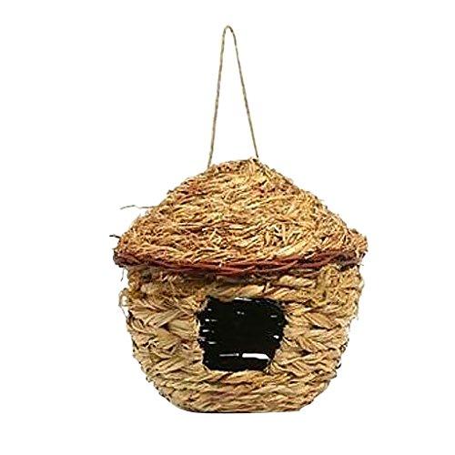 Dolity Nido de Pájaro de Paja Cría de Animales Apicultura Muebles Accesorios de Jardín - 5