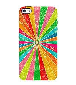 MULTICOLOURED PRISM RAYS PATTERN 3D Hard Polycarbonate Designer Back Case Cover for Apple iPhone 4