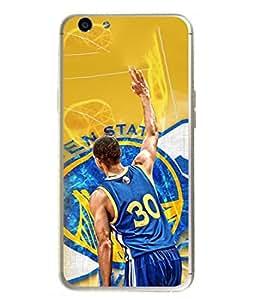 PrintVisa Designer Back Case Cover for Oppo F1s (Man In Jersey Playing Basket Ball Design)