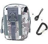 NewPI Bolso táctico,Riñonera Cinturón, Bolsa de cintura, táctica marcha bolsa,multiuso, para exteriores, para usarlo en el cinturón para senderismo y campamentos. (D)