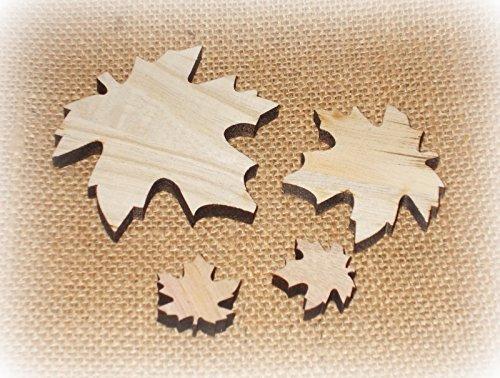Streudeko 'Blatt' aus Holz 18er-Set