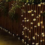 zonyee 7M 50 LED Solar String Lights Flower Bulbs Solar Garden Lights Waterproof