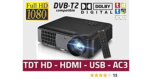 Full Hd 1080p Beamer Luximagen Hd520 2019 Neu Projektor Maximale Helligkeit Transporttasche Led 1920x1080 Ac3 2 X Hdmi Tv Usb Für Ps4 Xbox Umschalter Integrierter Dvb T2 Hd Freeview Heimkino Tv Video