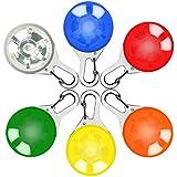 Sicherheits Clip-On LED Licht, Lnkey 6 Pcs LED Leuchtanhänger Schlüsselanhänger (6 Batterien inkl.) mit 3 Blinkmodis für Läufer, Jogger, Walker, Fahrradfahrer ,Tiere wie Hunde ,Katze