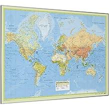 Weltkarte Gerahmt Rubbelkarte 80x40cm Karte Zum Freirubbeln Englisch