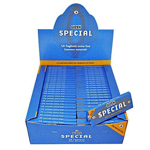 Cartine GIZEH special CORTE Bianche extra fine 1 box 100 pz 5000 foglietti nuova grafica