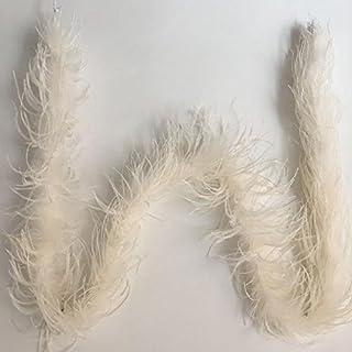 Kolight Lot de 1,8m teints en plumes d'autruche Boa Écharpe DIY Maison Fête de mariage au bureau Vêtements Accessoires Décoration ivoire