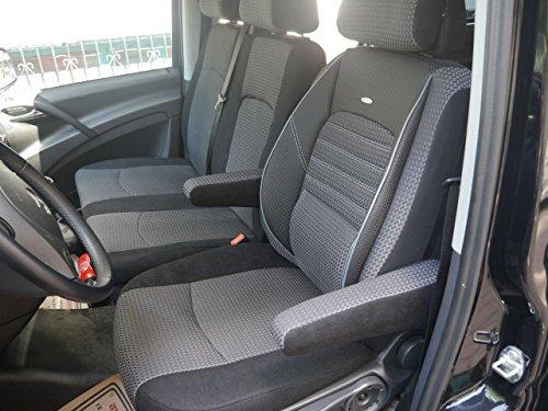 Mercedes Vito Viano W639 2003 - 2014 Elite Coprisedili per sedile del conducente e coprisedile doppio Banca 2 braccioli Coprisedili