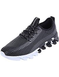 NEOKER Zapatillas de Deporte Calzado Trainer Sneakers Para Hombre Negro