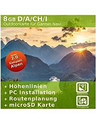 8 GB Deutschland Profi Topo Karte - Kompatibel zu Garmin Geräte - Nur original über mapshop24