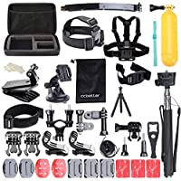 Accessories for Gopro, ccbetter Action camera mounts for Gopro Hero 7 hero 2018 hero 6 Hero 4 Hero 5 Session Hero 1 2 3 3+ for most of sports camera including Wrist Strap With Case (Black) by ccbetter